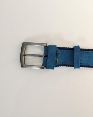 Pasek Skórzany Niebieski 120cm