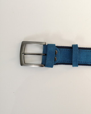 Pasek Skórzany Niebieski 115cm