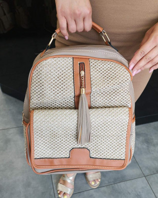 Plecak Ciemnobeżowy