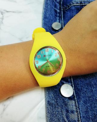 zegarek silikonowy żółty