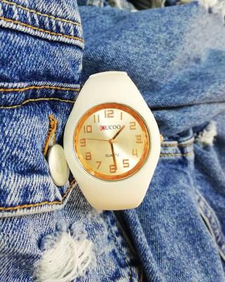 Zegarek silikonowy beżowy