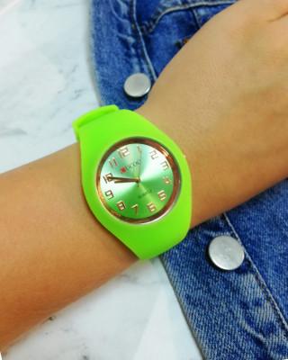 zegarek silikonowy zielony