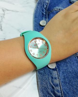 zegarek silikonowy miętowy