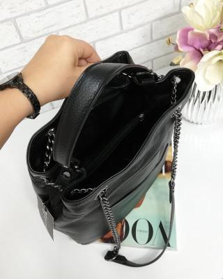 torebka skórzana czarna