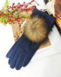 Rękawiczki granatowe