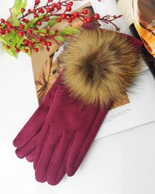 Rękawiczki bordowe