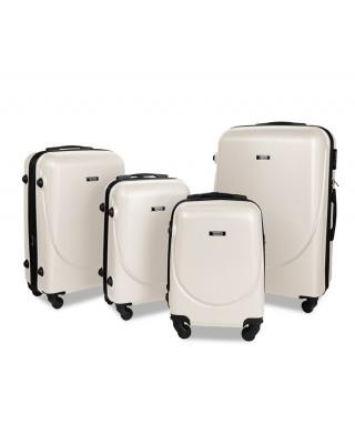 walizka Kremowa średnia