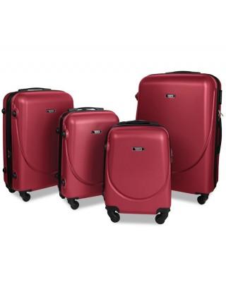 walizka Bordowa średnia