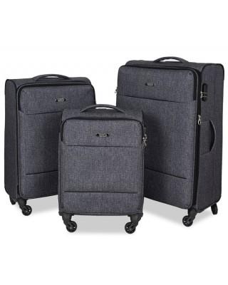 walizka Szara średnia