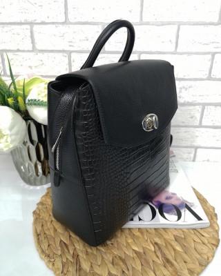 Plecak skórzany czarny