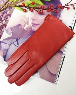 Rękawiczki szkórzane czerwone